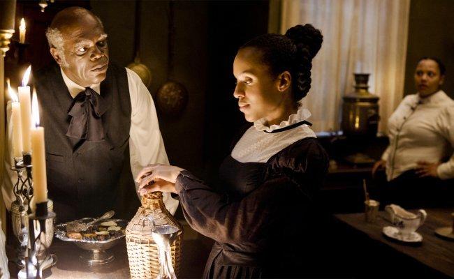 Samuel L. Jackson y Kerry Washington en Django Desencadenado