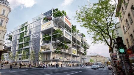 Así serán las tiendas Ikea del futuro: en el centro de la ciudad, con jardín público en vez de parking y hotel integrado en sus instalaciones