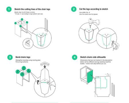 lavadora silla