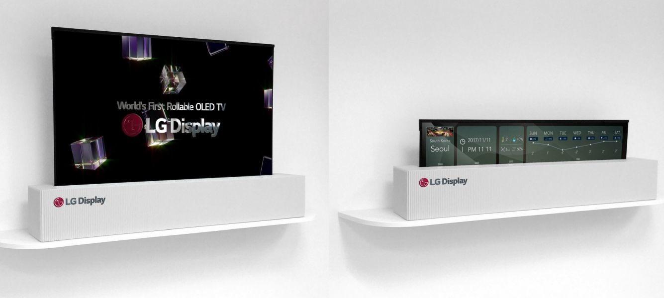 El panel OLED flexible de LG crece hasta las 65 pulgadas, estrena resolución 4K y se puede enrollar como un periódico