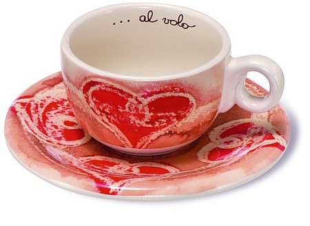 Tazas para compartir café en San Valentín