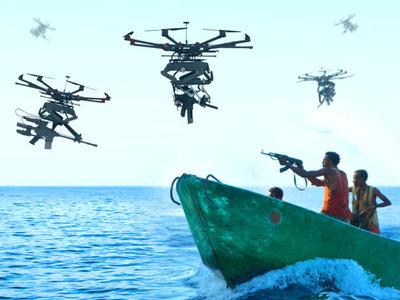 Drones francotiradores, Duke Robotics pone ametralladoras y lanzagranadas en un drone