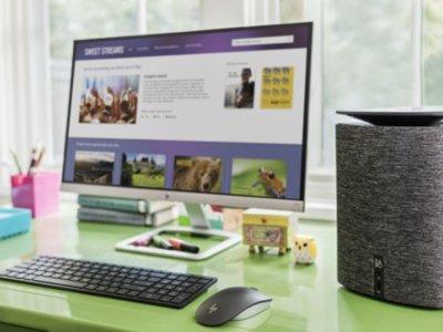 Parecen unos altavoces de diseño de Bang & Olufsen pero es un ordenador de HP