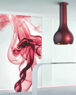 campana extractora faber rojo