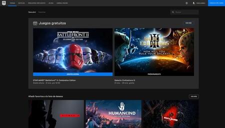 Juegos de regalo en la Epic Games Store