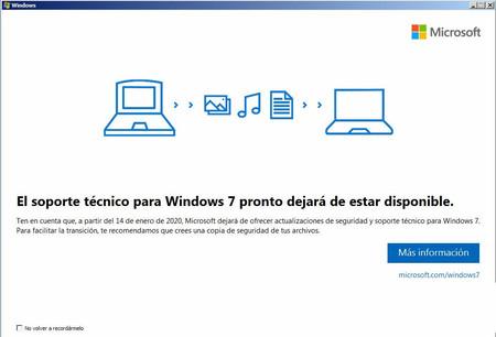 ¿Qué hago con ese aviso del fin de soporte de Windows 7?