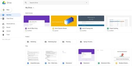 Google Drive se rediseña para parecerse al nuevo Gmail: estas son las novedades
