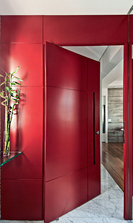 Moderna Puerta Roja 05