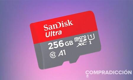 Espacio extra en tu smartphone con los 256 GB de esta MicroSDXC Sandisk Ultra: Amazon te la deja por sólo 30,99 euros