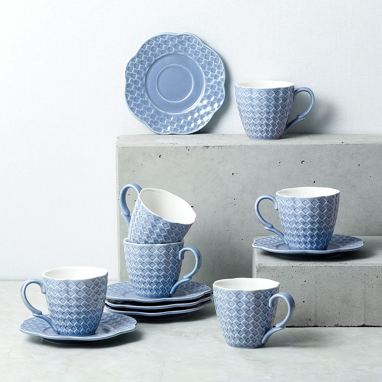 Sunting juego de tazas de porcelana