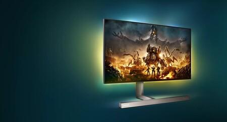 Philips lanza el 279M1RV, un monitor gaming para consolas con HDMI 2.1, 144 Hz, sonido DTS e iluminación Ambiglow