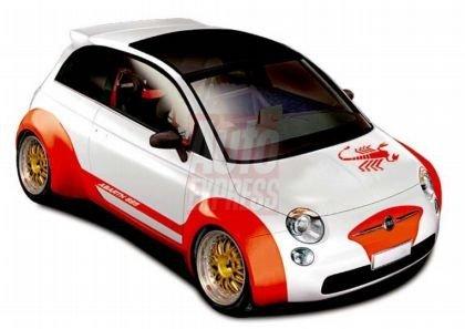 Fiat 500 Abarth, primeras imágenes en Photoshop