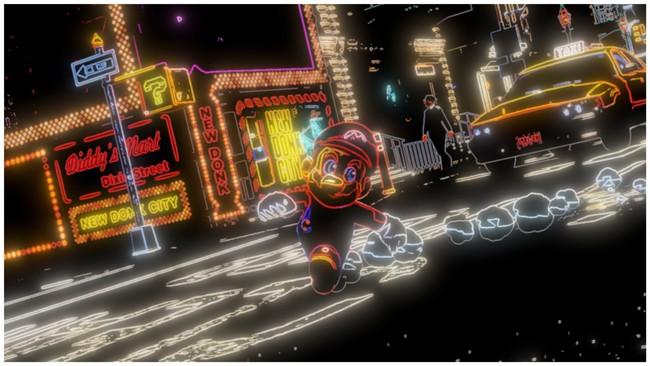 Super Mario Odyssey Efecto Neon