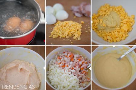 Dip cangrejo y mostaza - elaboración