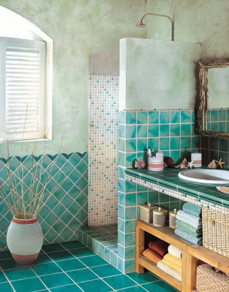 21 ideas decorativas originales jugando con los azulejos y - Pintar juntas azulejos ...