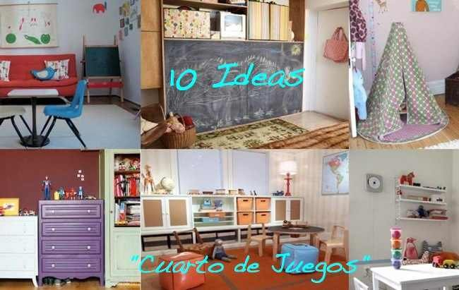 Diez ideas para decorar un cuarto de juegos for Ideas para decoracion habitaciones infantiles