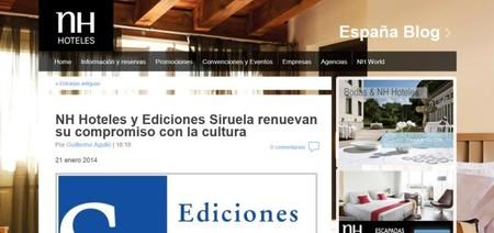 NH Hoteles y Ediciones Siruela regalan libros a sus clientes
