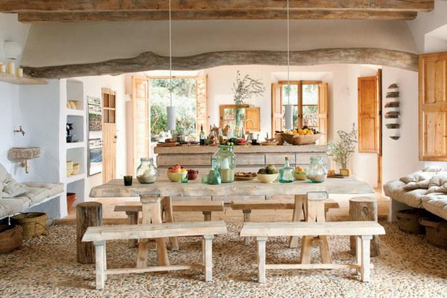 Una casa muy natural - comedor