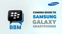BlackBerry Messenger es promocionado por Samsung, mientras se piensa convertirlo en una empresa independiente