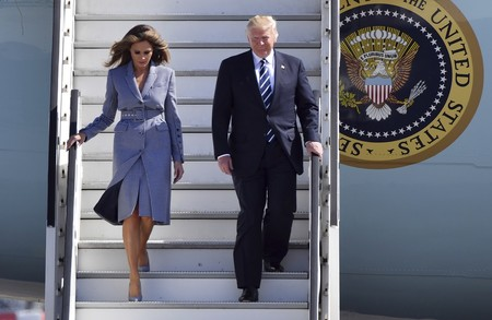 El look ultracoordinado de Melania Trump para visitar Bruselas, todo un acierto