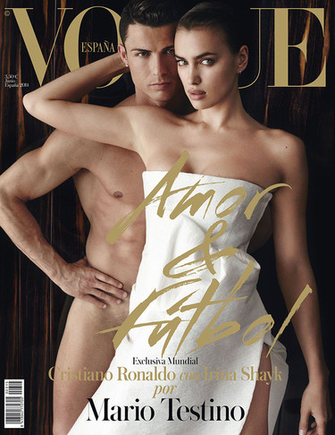 ¡Toma portada de Vogue con Irina Shayk y un Cristiano Ronaldo en pelotas!