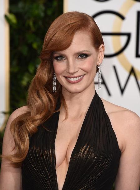 Jessica Chastain Versace Golden Globes 1 1