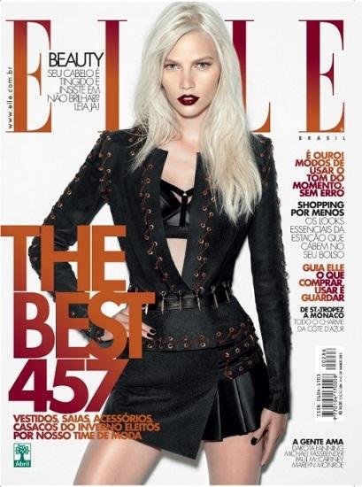 La espectacular belleza de Aline Weber en Elle Brasil