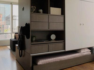 ¿Sin espacio en el micro apartamento? Ori te mete el mobiliario en una caja que se mueve