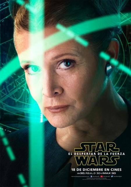 Star Wars 7 El Despertar De La Fuerza Imagenes Nuevos Carteles De Los Protagonistas 5 Leia