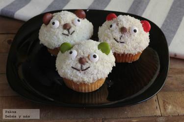 Cupcakes de ositos para alegrar la merienda de los más pequeños