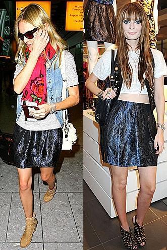 Una falda, dos estilos: los looks de Kate Bosworth y Mischa Barton