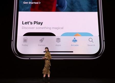 La sección en el Apple Store de Arcade