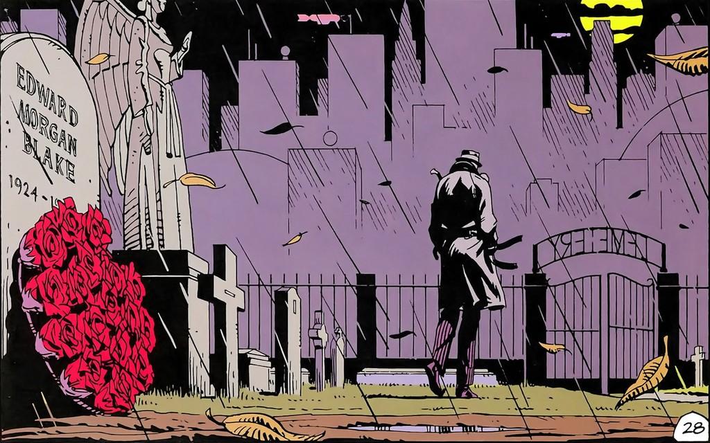 Una viñeta de la novela gráfica 'Watchmen', de Alan Moore.
