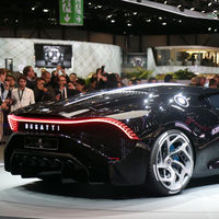 Al Bugatti La Voiture Noire le faltan dos años para ser una realidad: de hecho, el de Ginebra no era de verdad