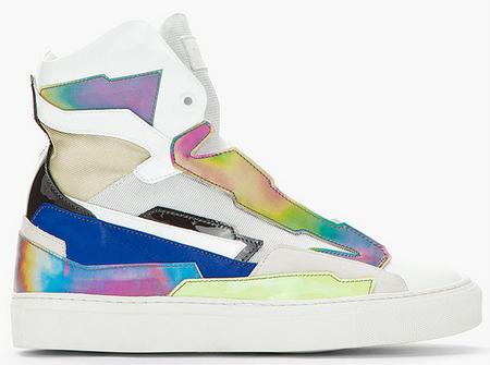 raf simons zapatilas holográfica