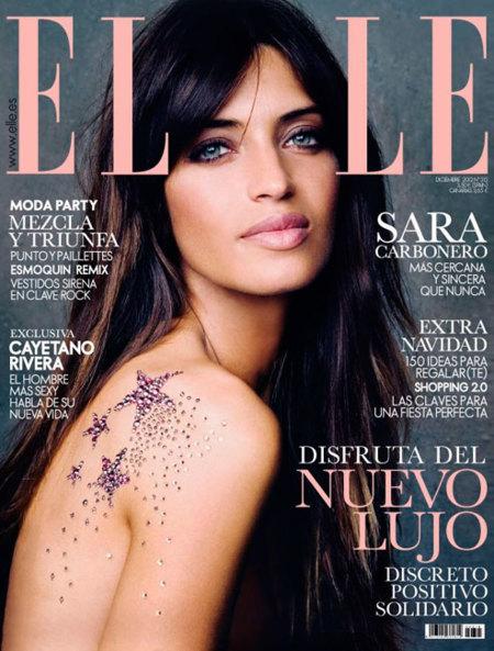 """Sara Carbonero """"se viste"""" de Swarovski para la portada de Elle"""