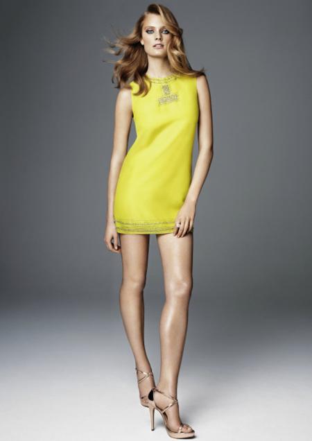 H&M vestido amarillo 2012