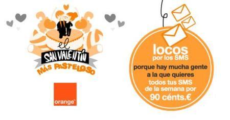 SMS gratis a Orange esta semana para celebrar San Valentín