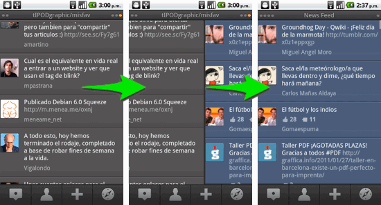 Columnas en TweetDeck Android