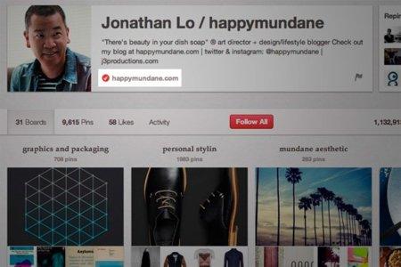 Pinterest ofrece verificación de perfiles... de una manera ligeramente diferente a Twitter