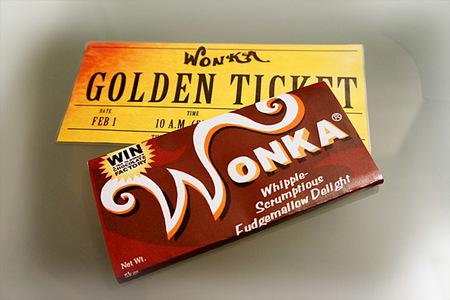 Cómo hacer tabletas de chocolate Wonka con el ticket dorado dentro