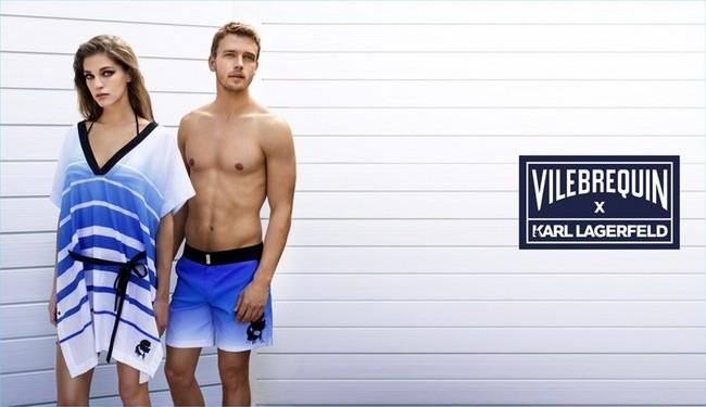 Karl Lagerfeld nos acompaña a la playa con sus básicos swimwear de la mano de Vilebrequin
