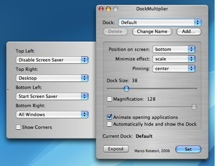 Dock Multiplier: Usando distintos docks personalizados