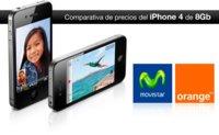 Comparativa de precios del nuevo iPhone 4 de 8Gb con Movistar y Orange, perfecto para indecisos