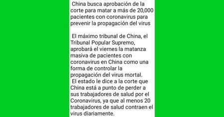 No hay matanzas programadas en China