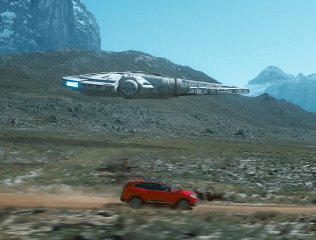 Anuncio de un coche y Star Wars
