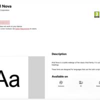 Ya puedes descargar desde la Tienda de Microsoft fuentes para tu equipo y la primera en llegar es Arial Nova