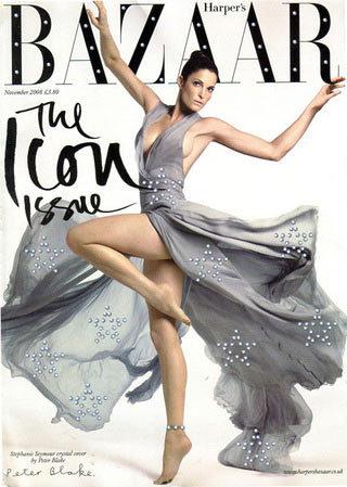 Stephanie Seymour para Harper's Bazaar The Icon Issue