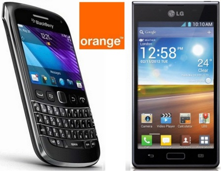 Precios LG Optimus L7 y Blackberry Bold 9790 con Orange