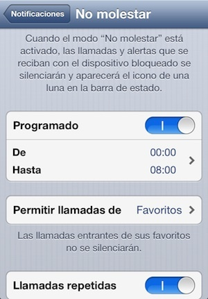 no molestar ios6